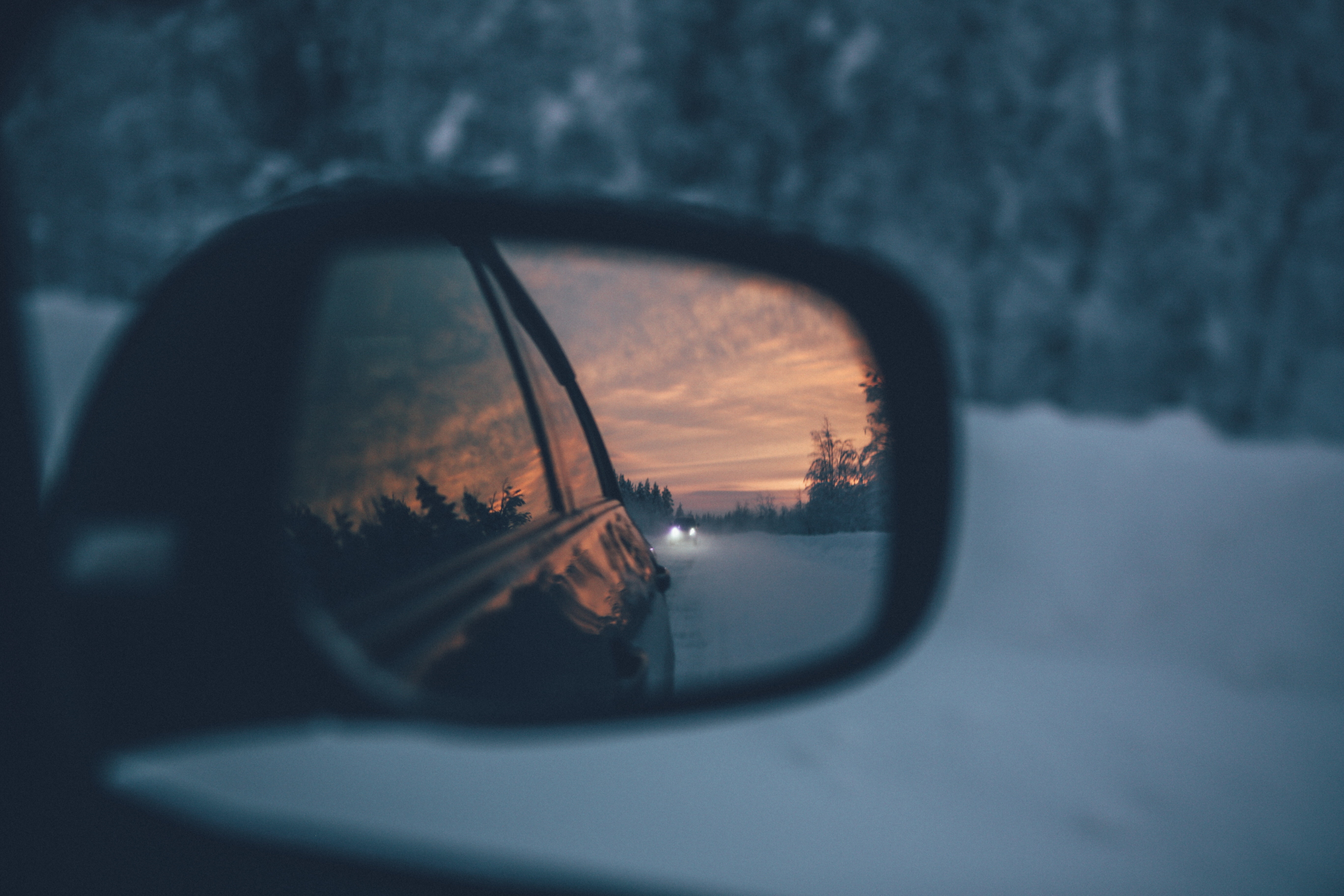 Car Wing Mirror Snow Winter Driving
