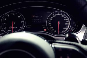 Audi RS7 Speedometer Close Up