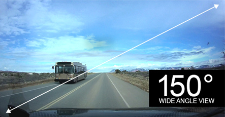 150-Degree Wide Angle Dash Cam Lens