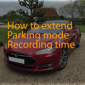 How to extend parkinf mode recording time
