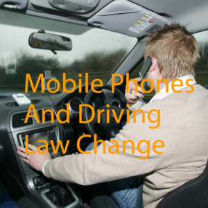 Mobile Phones and Driving law change