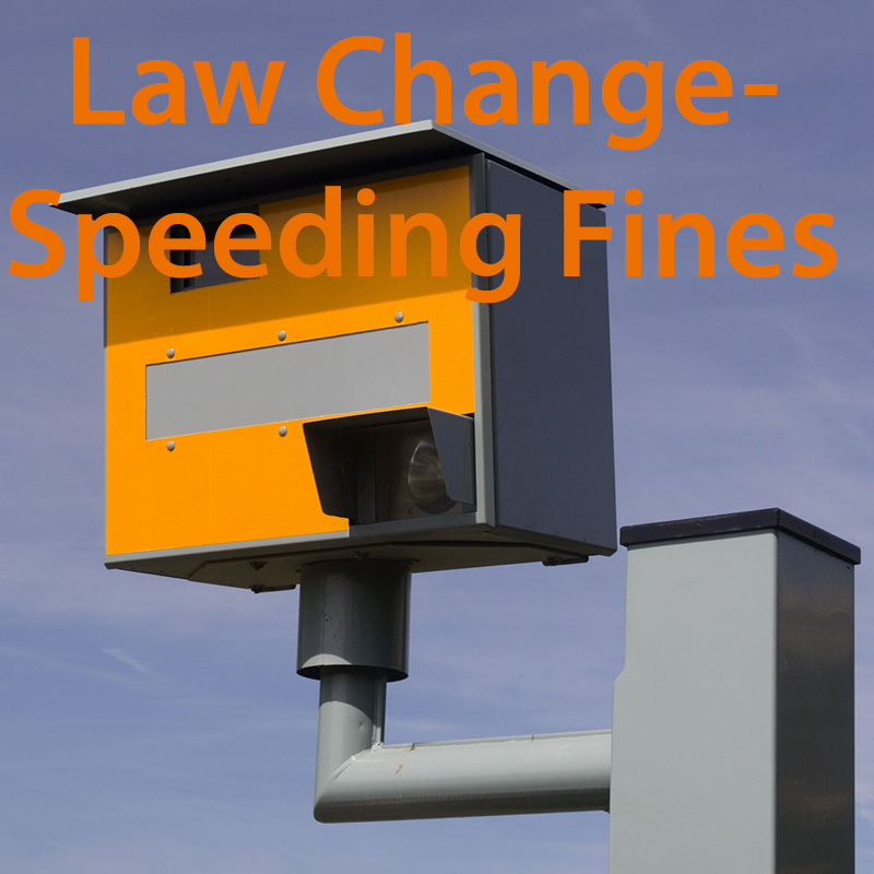 Speeding Fine Law Change