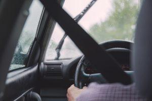 Car Driver Dash Cam View