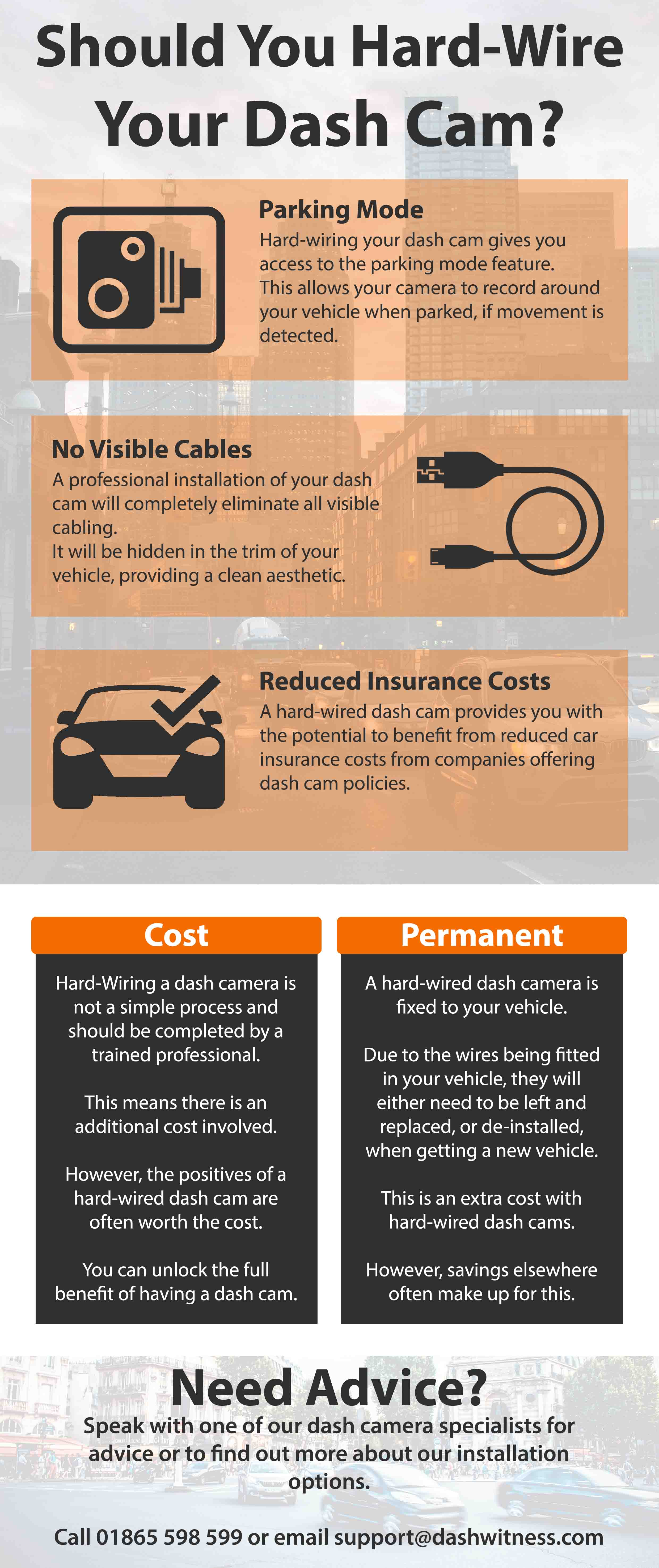 Should You Hard Wire Your Dash Cam Infographic