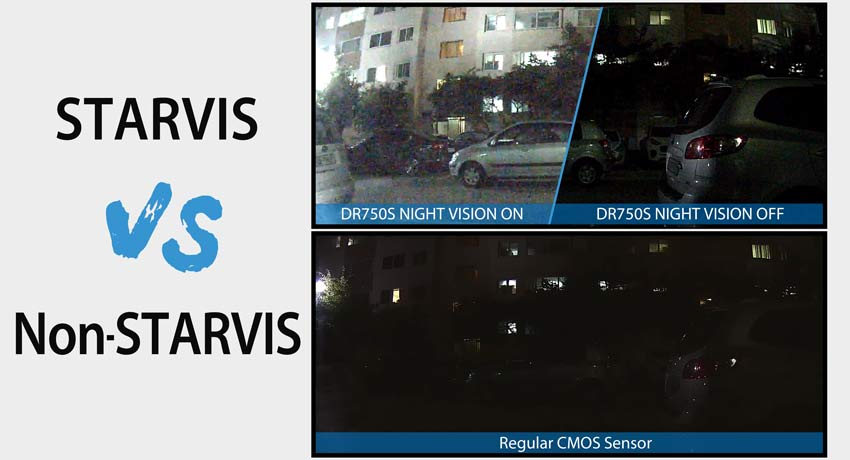blackvue dash cam sony starvis sensor comparison